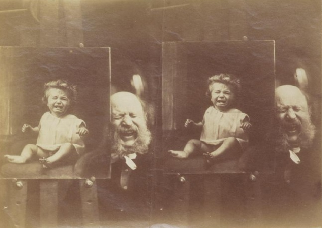 Rejlander posing with baby Jinx, CUL DAR 53.1 C96r