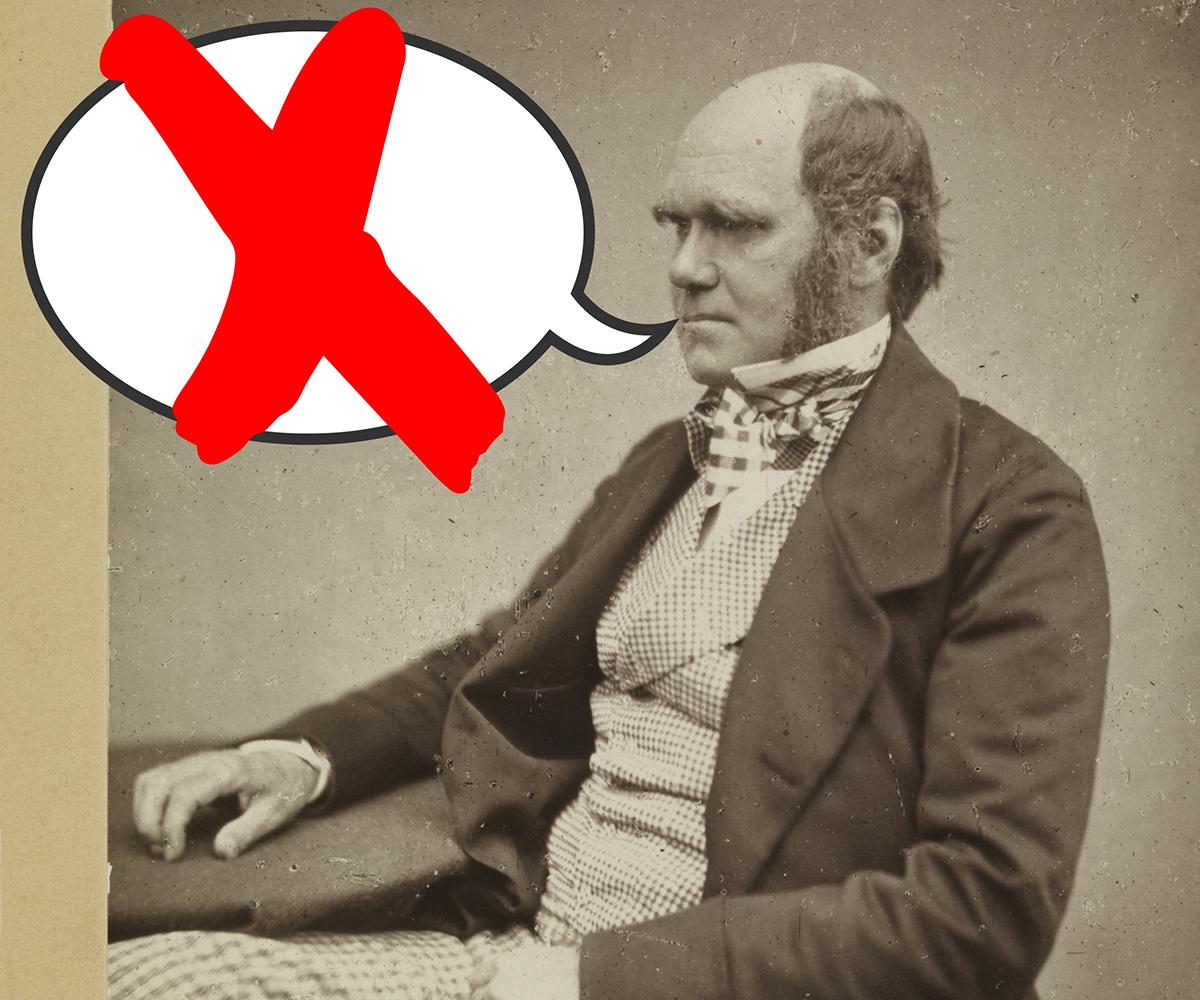 Darwin didn't say...