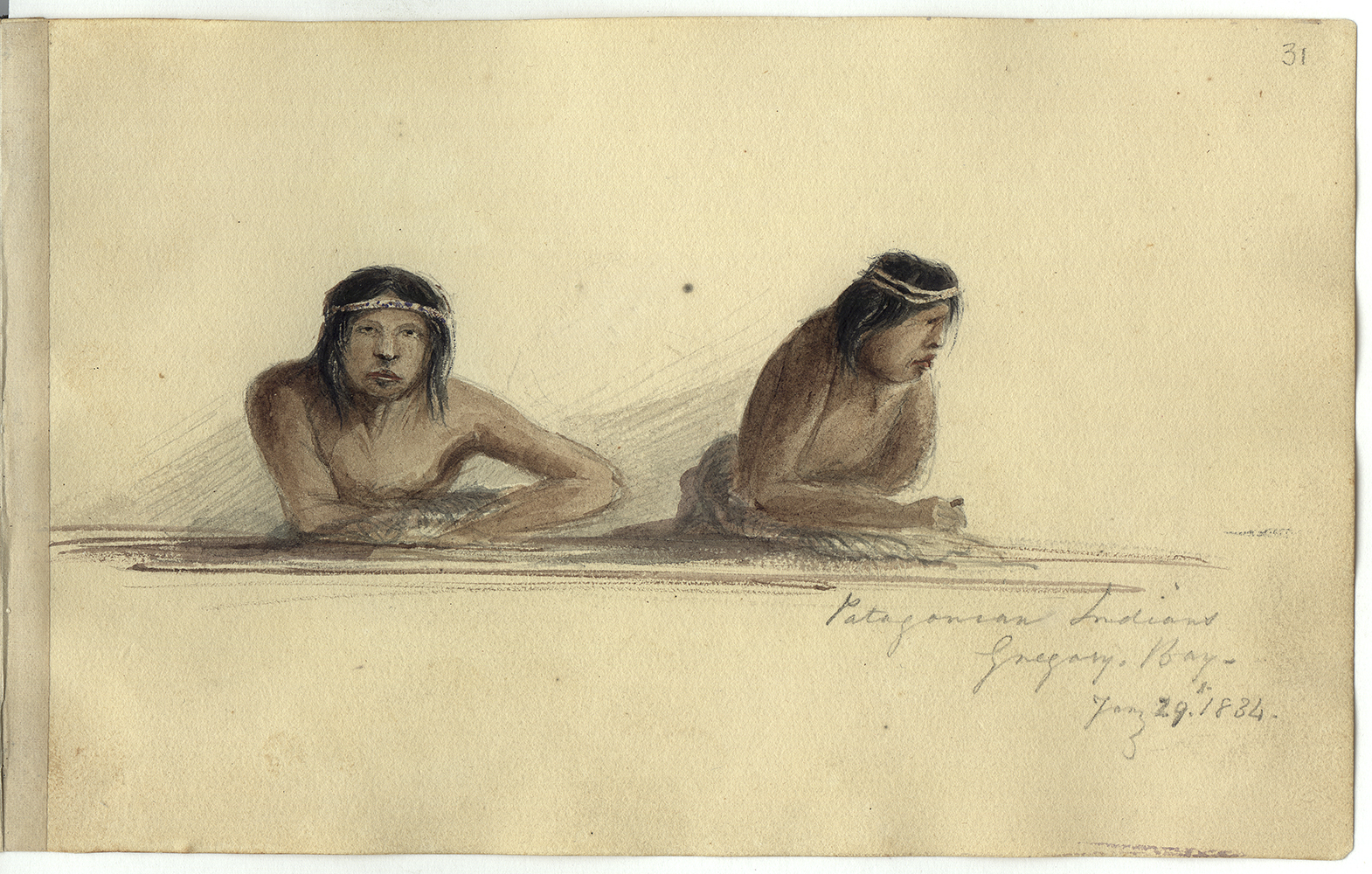 Patagonian Indians, Gregory Bay