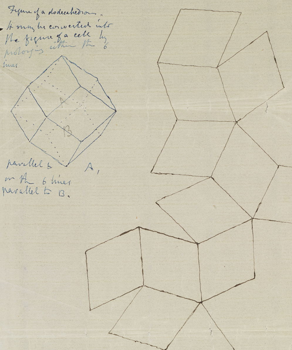 Part of a letter from W. H. Miller to Darwin exploring the geometrical architecture of honey-combs