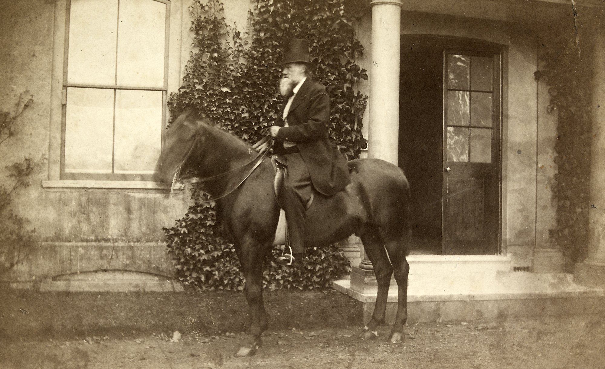 Charles Darwin on his horse, Tommy