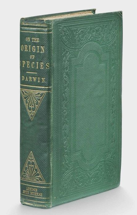 Origin of species book cover, 1859