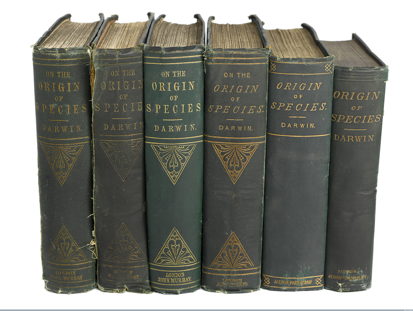 6 editions of 'The Origin of Species' by Charles Darwin