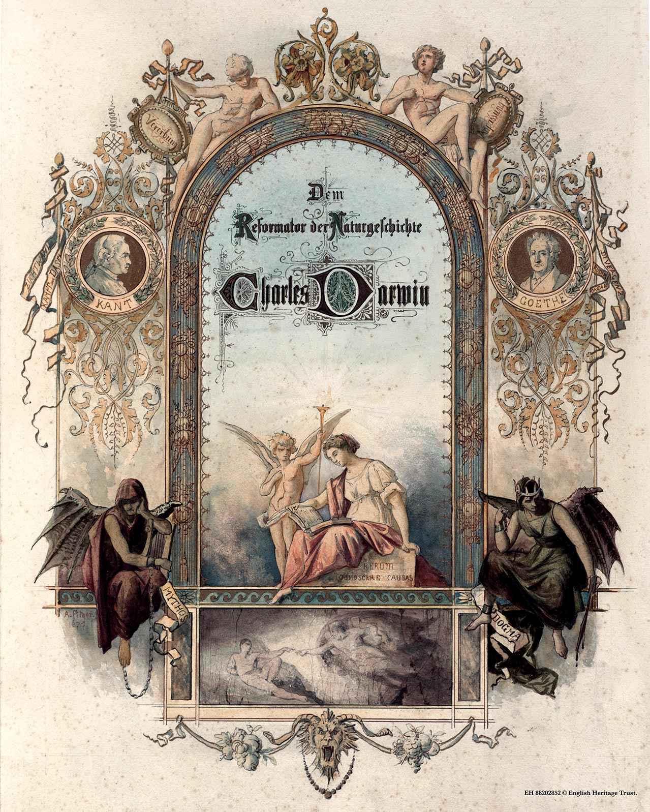 Frontispiece (close-up). German-Austrian album (EH 88202652).